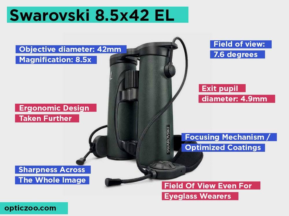 Swarovski 8.5x42 EL Review, Pros and Cons.