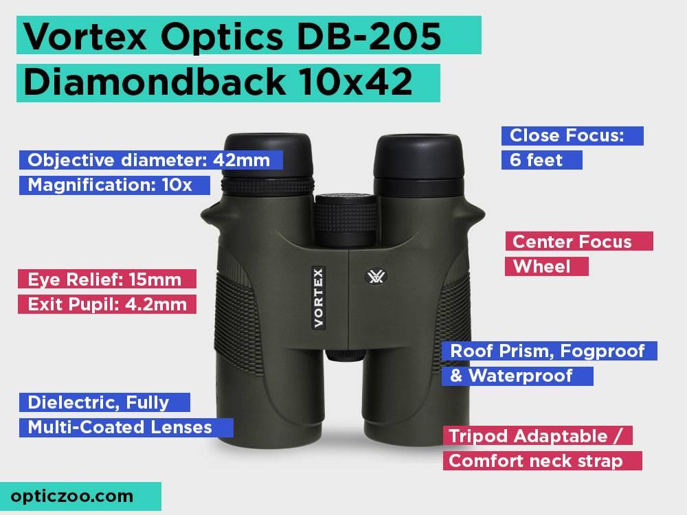 Vortex Optics DB-205 Diamondback 10x42 Review, Pros and Cons.