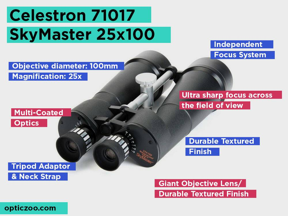 Celestron 71017 SkyMaster 25x100 Review, Pros and Cons. Check our Best Binocular For Sky Gazing 2018