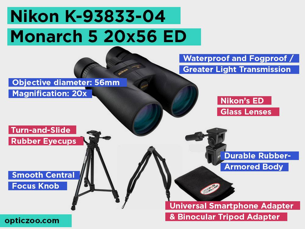 Nikon K-93833-04 Monarch 5 20x56 ED Review, Pros and Cons. Check our Best Binoculars In Low Light 2018