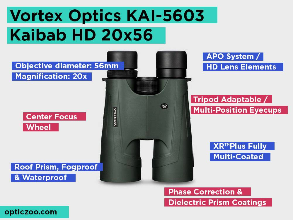Vortex Optics KAI-5603 Kaibab HD 20x56 Review, Pros and Cons. Check our Best Premium Pick 2018