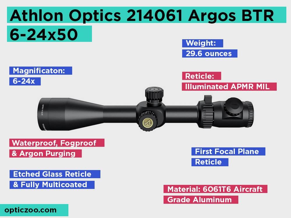 Athlon Optics 214061 Argos BTR 6-24x50 Review, Pros and Cons
