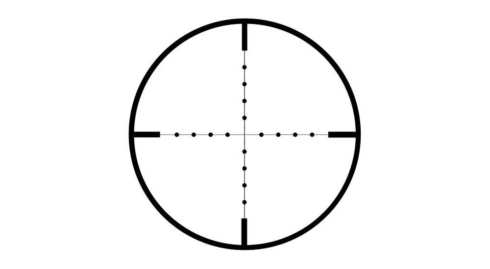 Sightmark Triple Duty 3 9X42 Riflescope comes with a mil-dot reticle