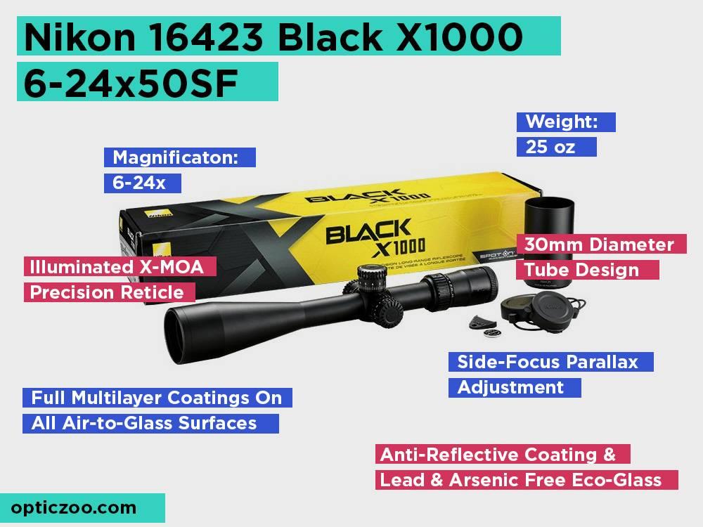 Nikon 16423Black X1000 6-24x50SF Review, Pros and Cons