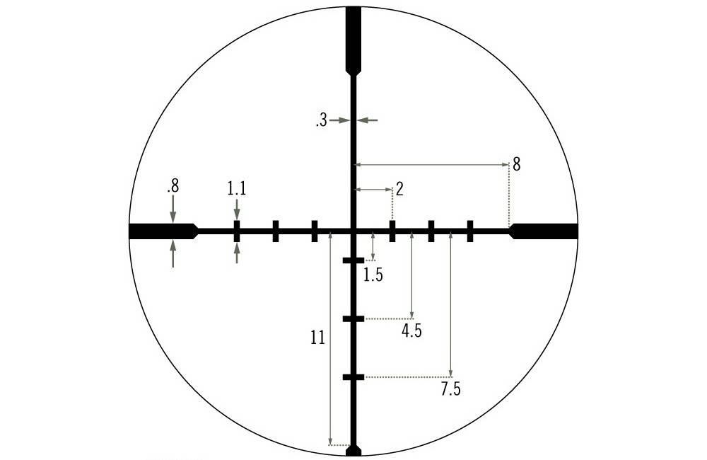 Vortex Optics CF2-31015 Crossfire II 4-12x44 has the Dead-Hold BDC Reticle