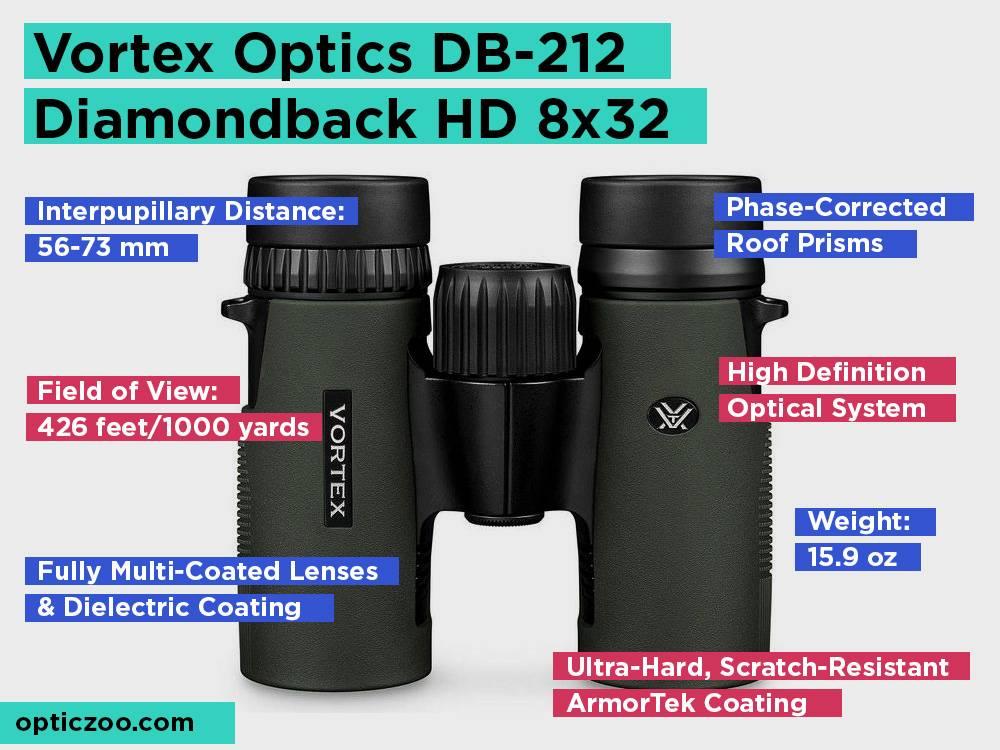 Vortex Optics DB-212 Diamondback HD 8x32 Review, Pros and Cons