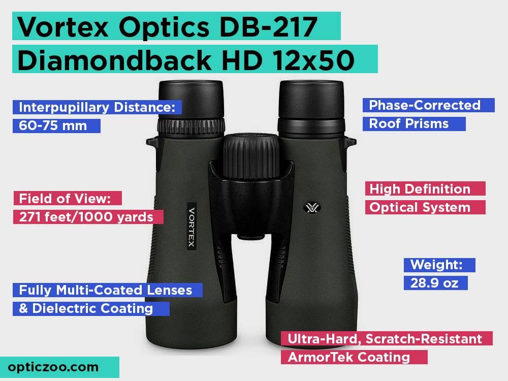 Vortex Optics DB-217 Diamondback HD 12x50 Review, Pros and Cons