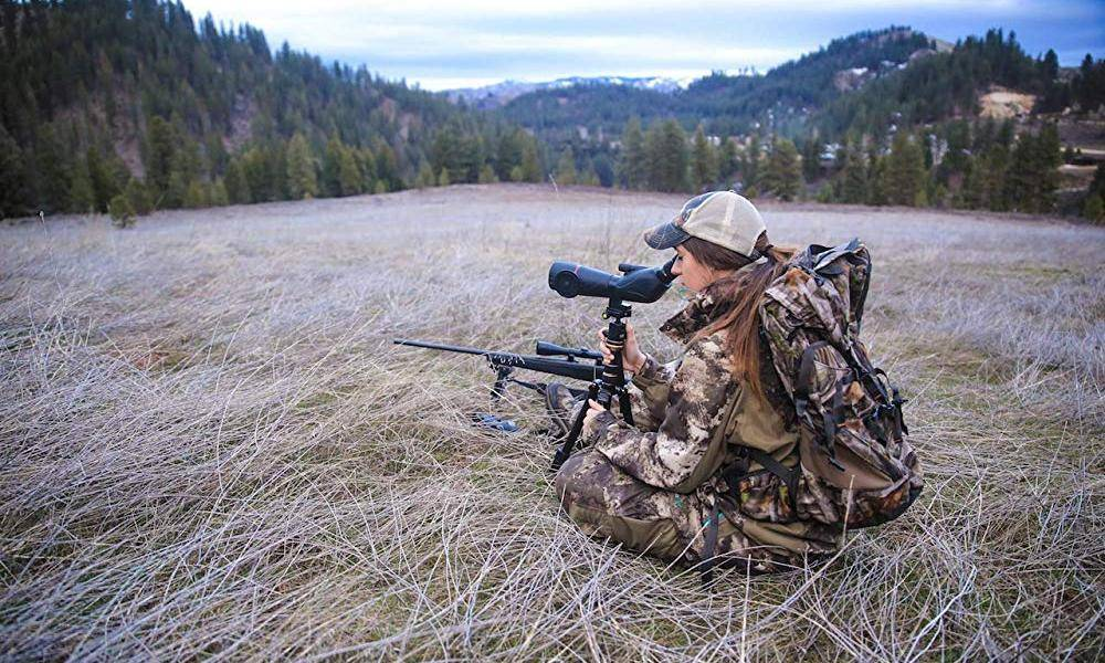 Upland Optics Perception HD 20-60x60 Spotting Scope uses with the tripod