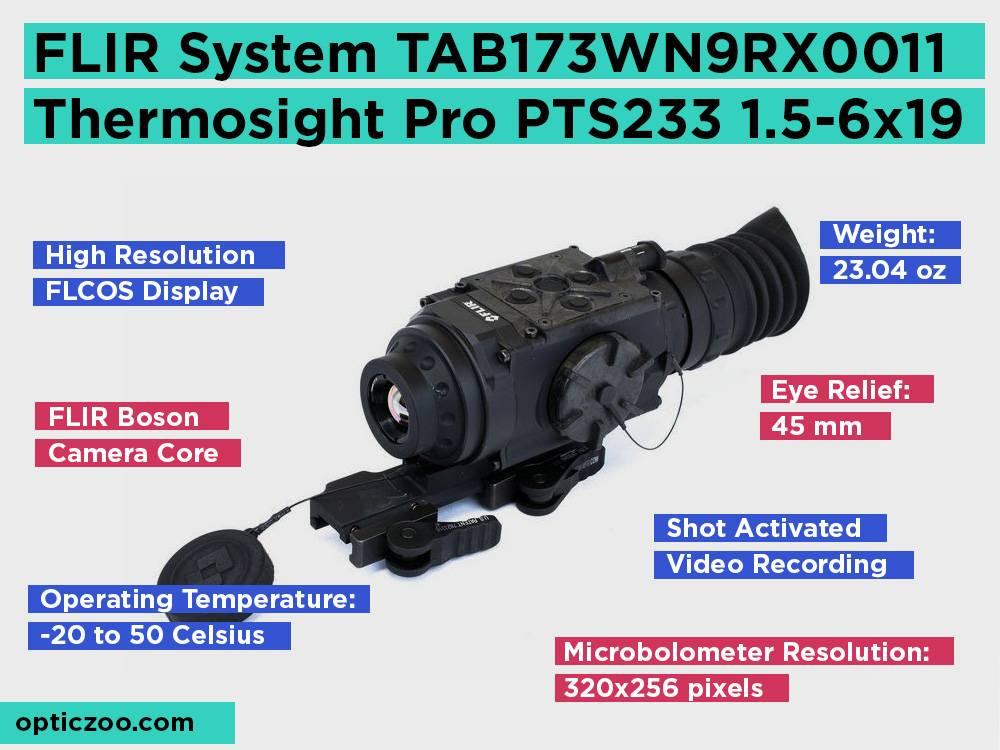 FLIR System TAB173WN9RX0011 Thermosight Pro PTS233 1.5-6x19 Review, Pros and Cons