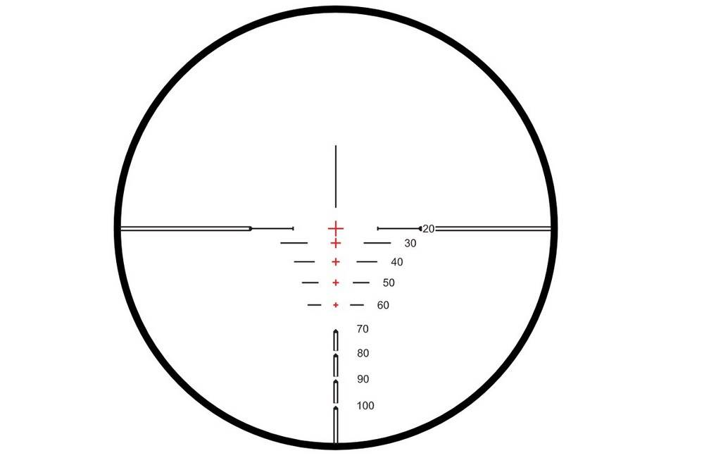Hawke 12221 XB1 1.5-5X32 IR SR scope has XB1 SR Illuminated Reticle