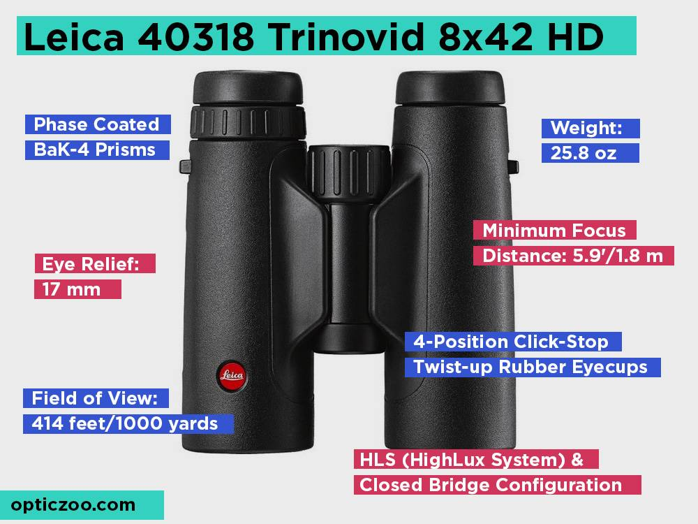 Leica 40318 Trinovid 8x42 HD Review, Pros and Cons
