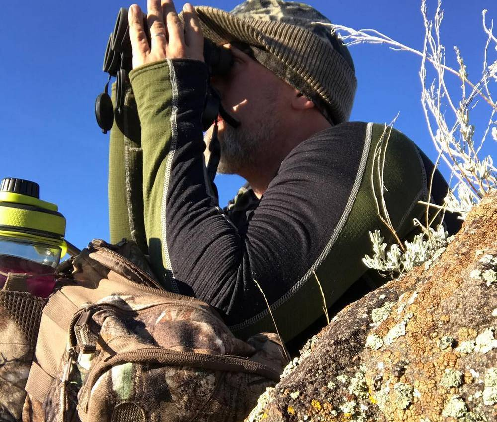 Most hunters prefer rangefinder binos with long eye relief