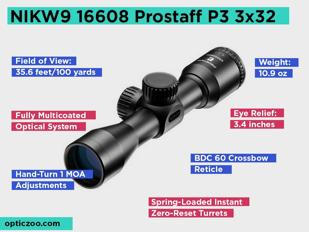 NIKW9 16608 Prostaff P3 3x32 Review, Pros and Cons
