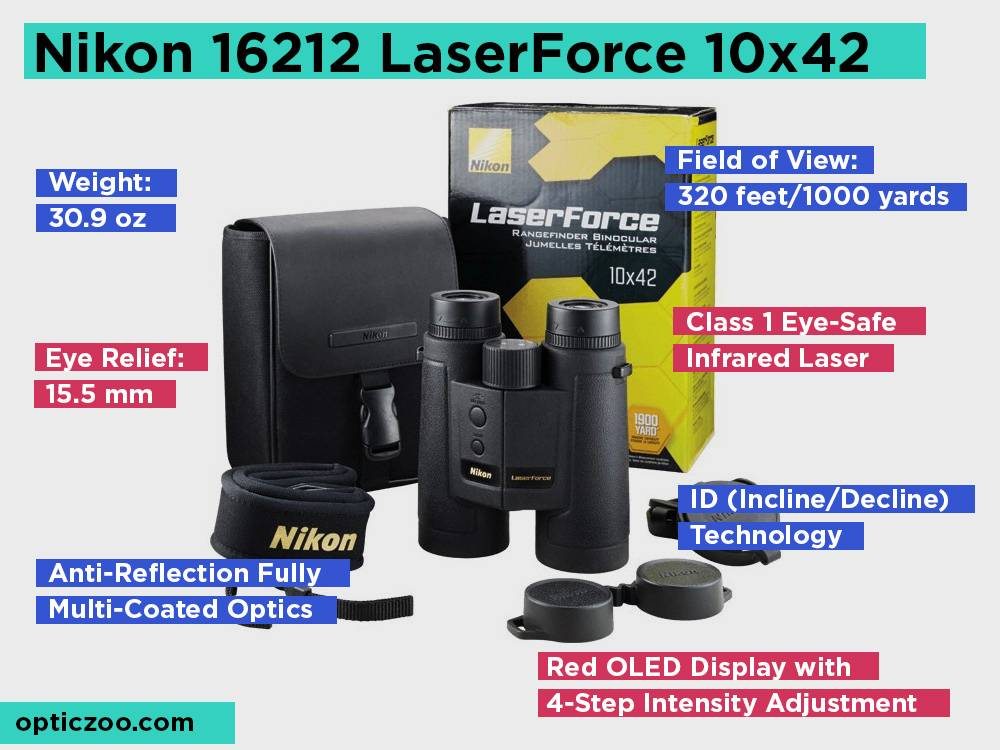 Nikon 16212 LaserForce 10x42 Review, Pros and Cons