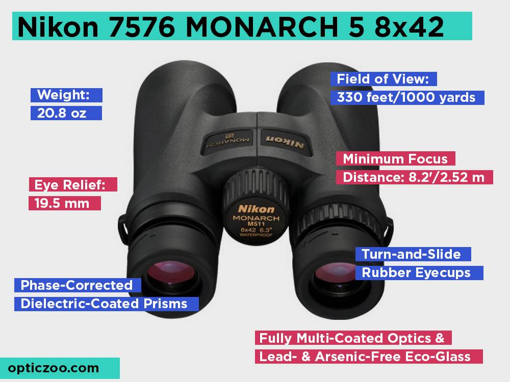 Nikon 7576 MONARCH 5 8x42 Review, Pros and Cons