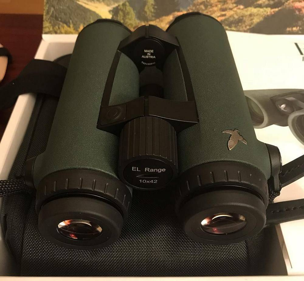 Swarvoski 70020 EL Range 10x42 has the 10x magnification and the 42mm objective