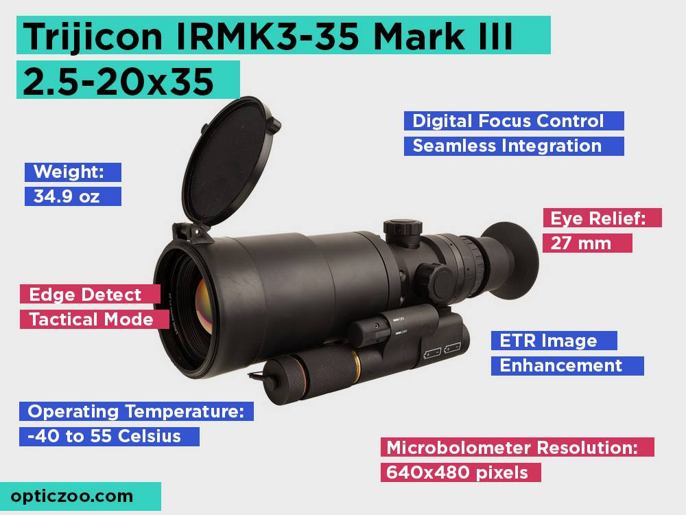 Trijicon IRMK3-35 Mark III 2.5-20x35 Review, Pros and Cons