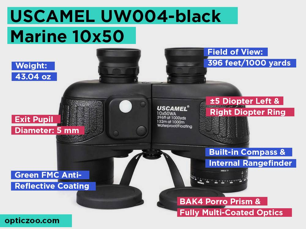 USCAMEL UW004-black Marine 10x50 Review, Pros and Cons