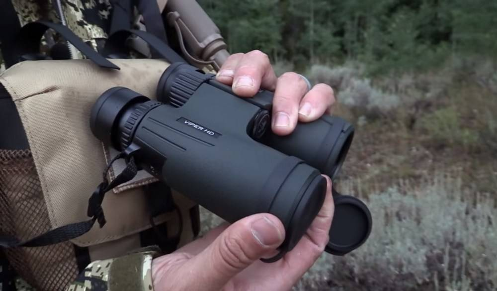Vortex Viper V201 HD 10x42 model has a rubber armor and tethered objective lens covers