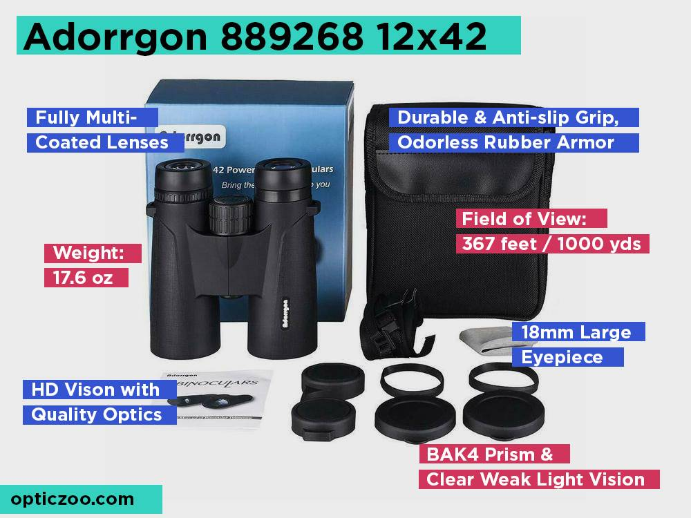 Adorrgon 889268 12x42 Review, Pros and Cons