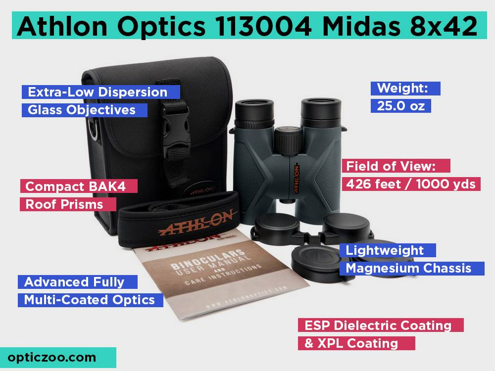 Athlon Optics 113004 Midas 8x42 Review, Pros and Cons