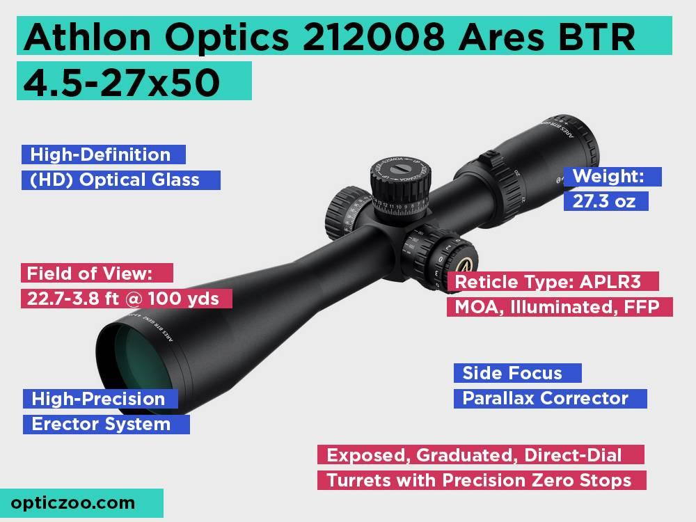 Athlon Optics 212008 Ares BTR 4.5-27x50 Review, Pros and Cons