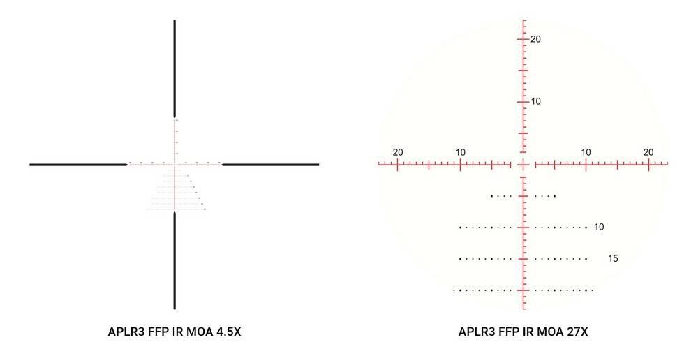 Athlon Optics 212008 Ares BTR 4.5-27x50 has illuminated reticle