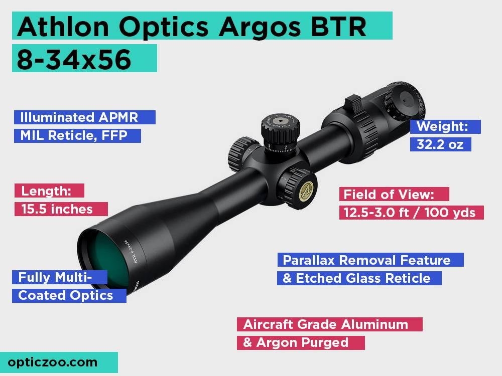 Athlon Optics Argos BTR 8-34x56 Review, Pros and Cons