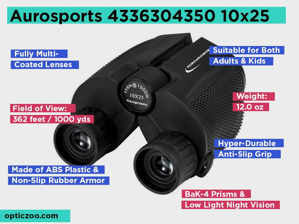 Aurosports 4336304350 10x25 Review, Pros and Cons
