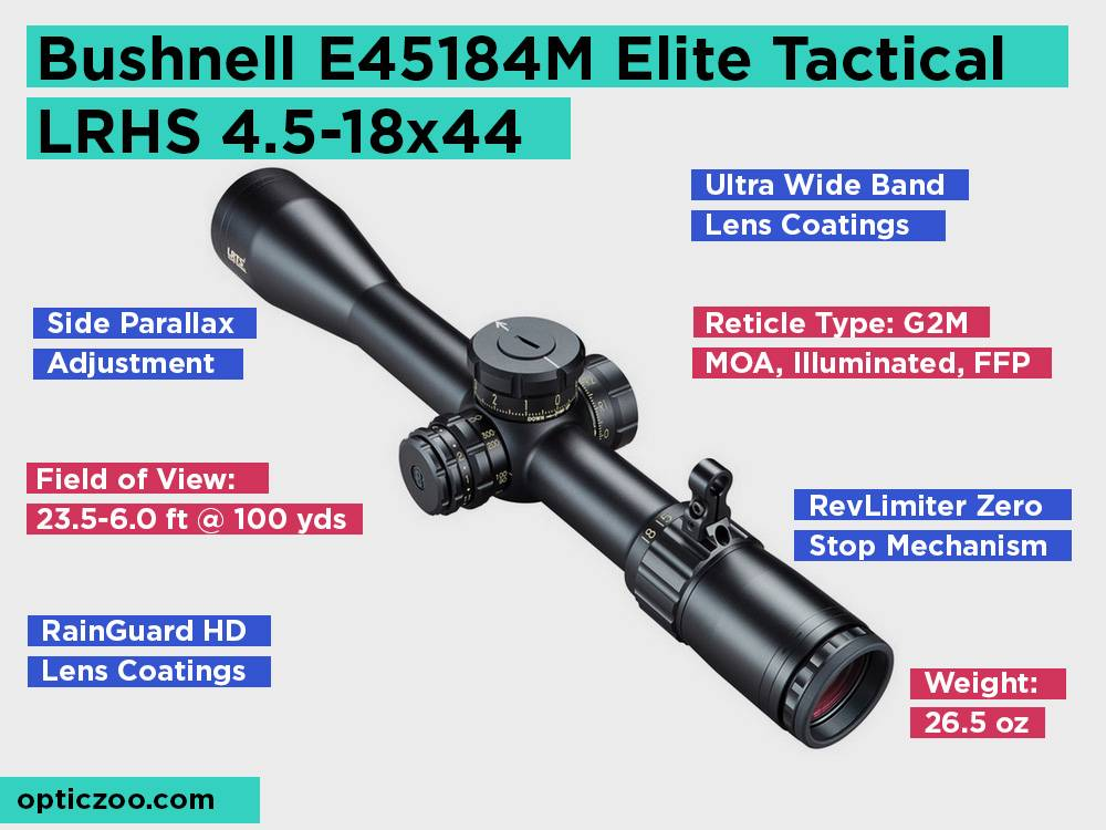 Bushnell E45184M Elite Tactical LRHS 4.5-18x44 Review, Pros and Cons