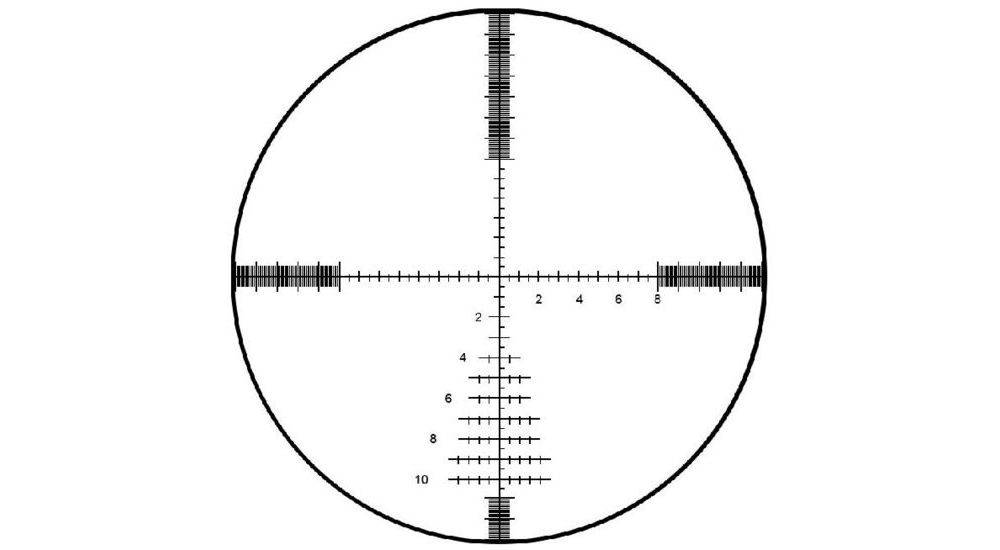 Bushnell ET6245F Elite Tactical 6-24x50 uses an illuminated G2 DMR reticle
