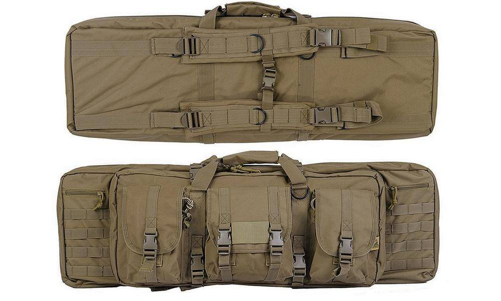 Lancer Tactical Double Carbine Soft Case comes with padded shoulder straps and carrying handle