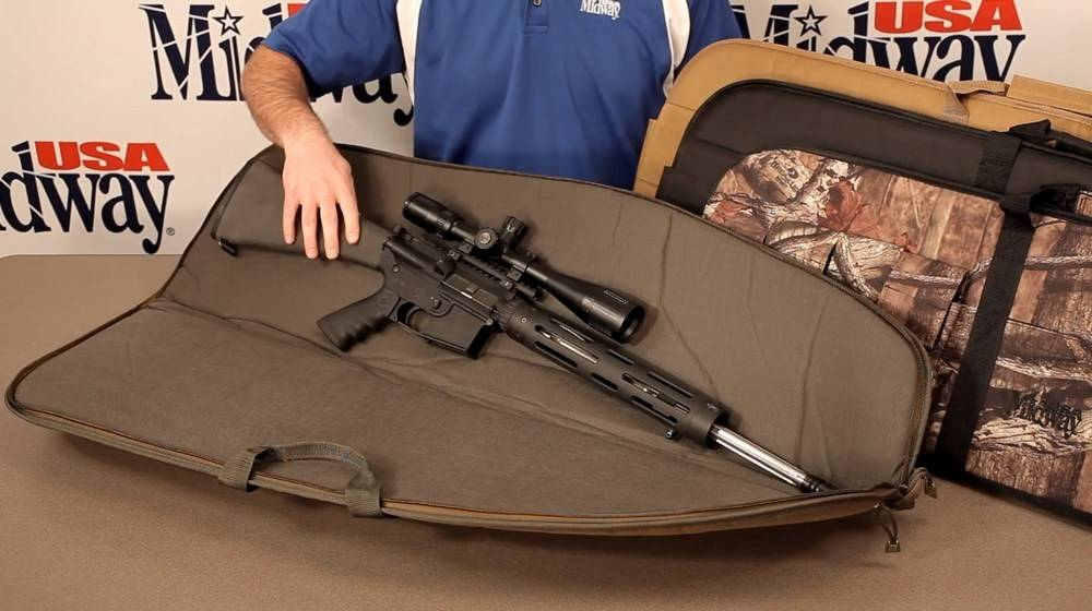 MidwayUSA Tactical Rifle Case is made of heavy-duty Nylon