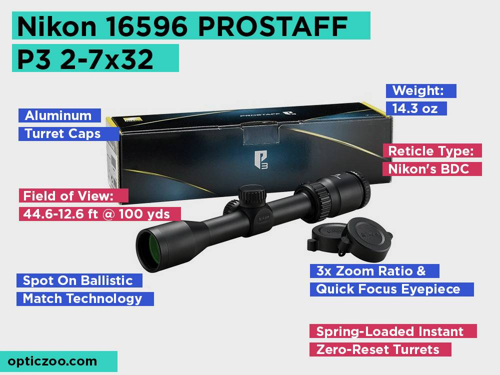 Nikon 16596 PROSTAFF P3 2-7x32 Review, Pros and Cons