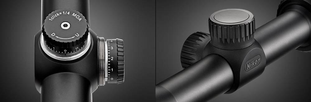 Nikon 16596 Prostaff P3 2-7x32 has spring-loaded instant zero-reset turrets & aluminum turret caps