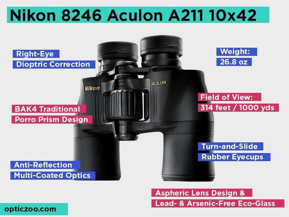 Nikon 8246 Aculon A211 10x42 Review, Pros and Cons