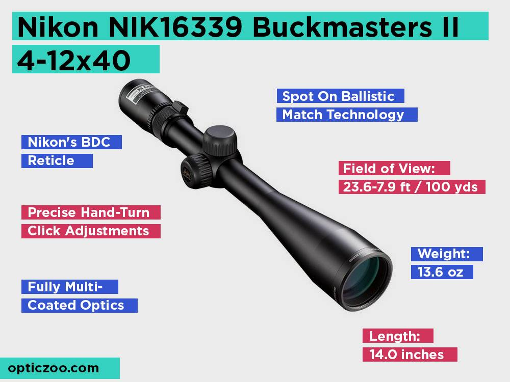Nikon NIK16339 Buckmasters II 4-12x40 Review, Pros and Cons