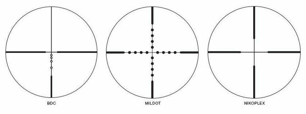Nikon 16596 Prostaff P3 2-7x32 muzzleloader scope has 3 different reticles