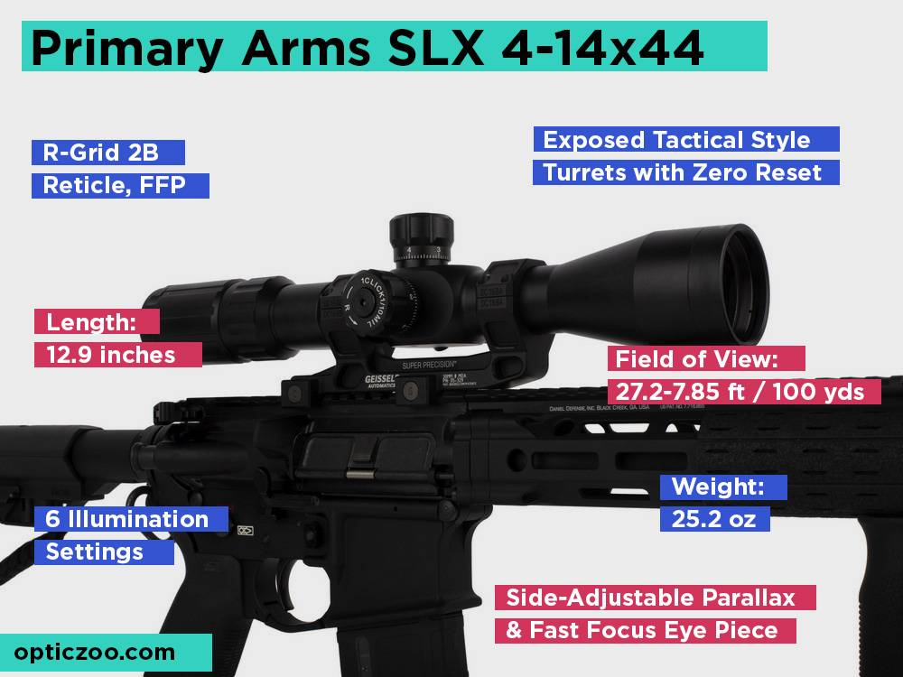 Primary Arms SLX 4-14x44 Review, Pros and Cons