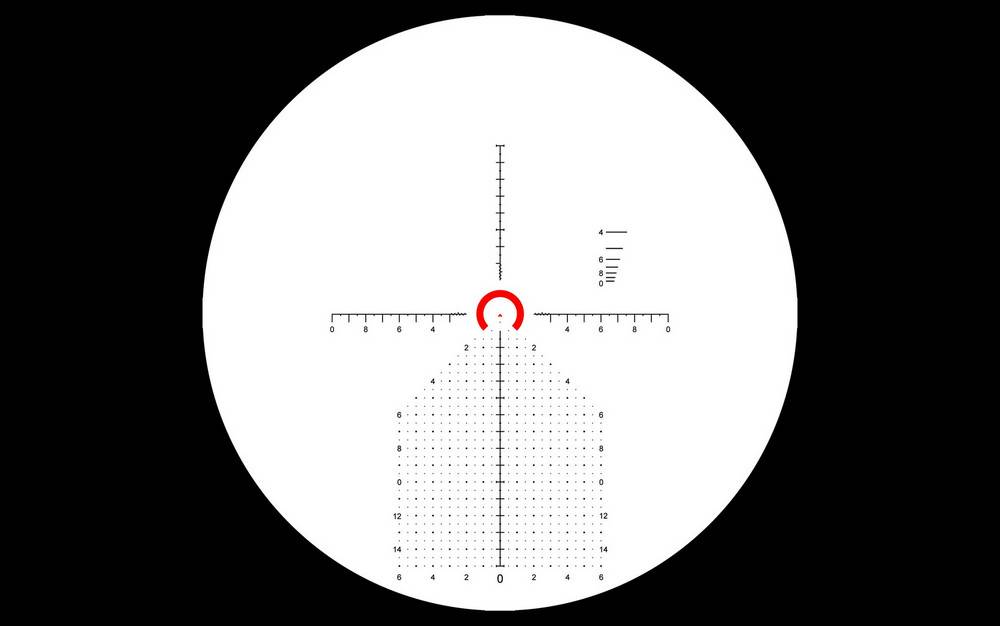 Primary Arms SLX 4-14x44 uses an R-Grid 2B reticle
