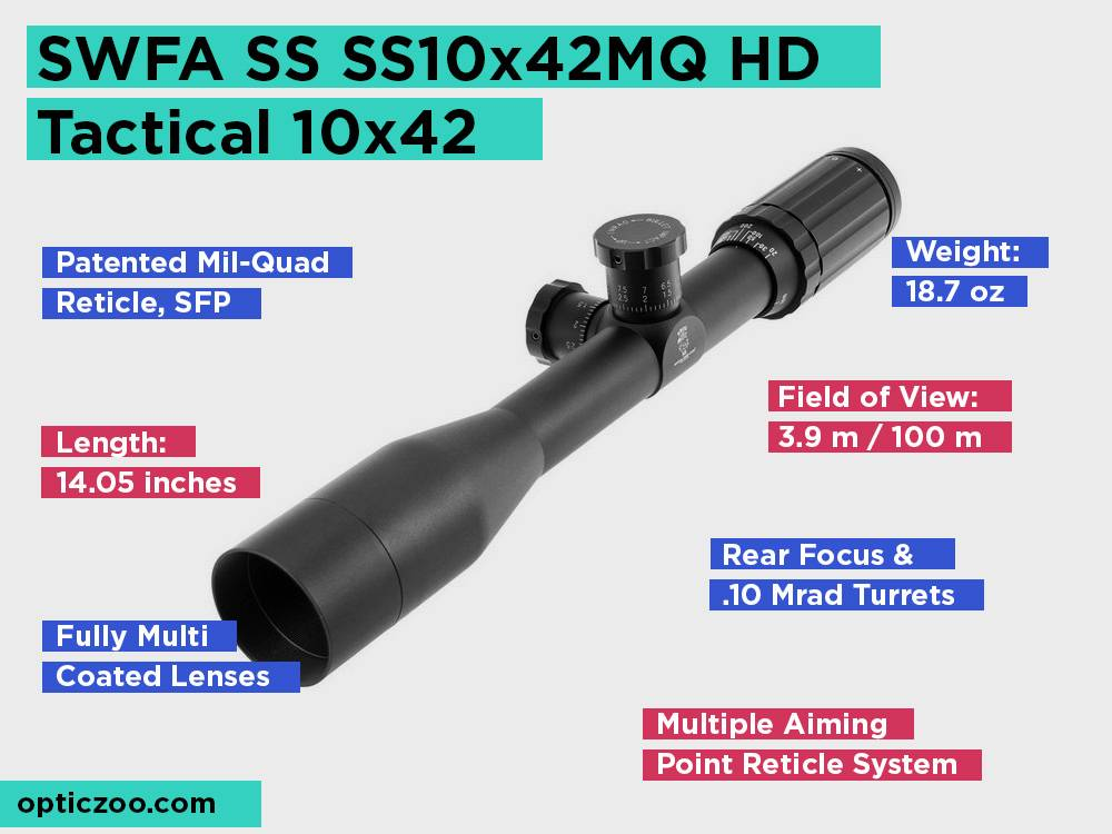SWFA SS SS10x42MQ HD Tactical 10x42 Review, Pros and Cons