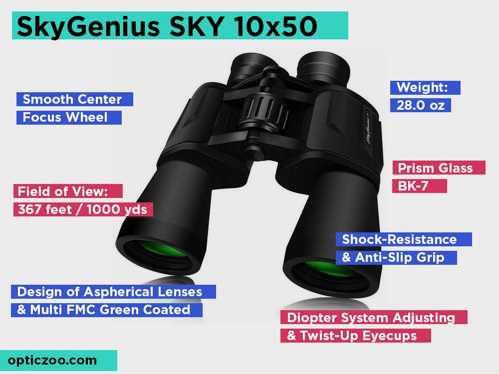 SkyGenius SKY 10x50 Review, Pros and Cons