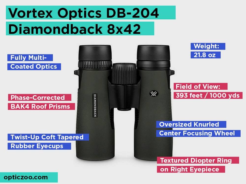 Vortex Optics DB-204 Diamondback 8x42 Review, Pros and Cons