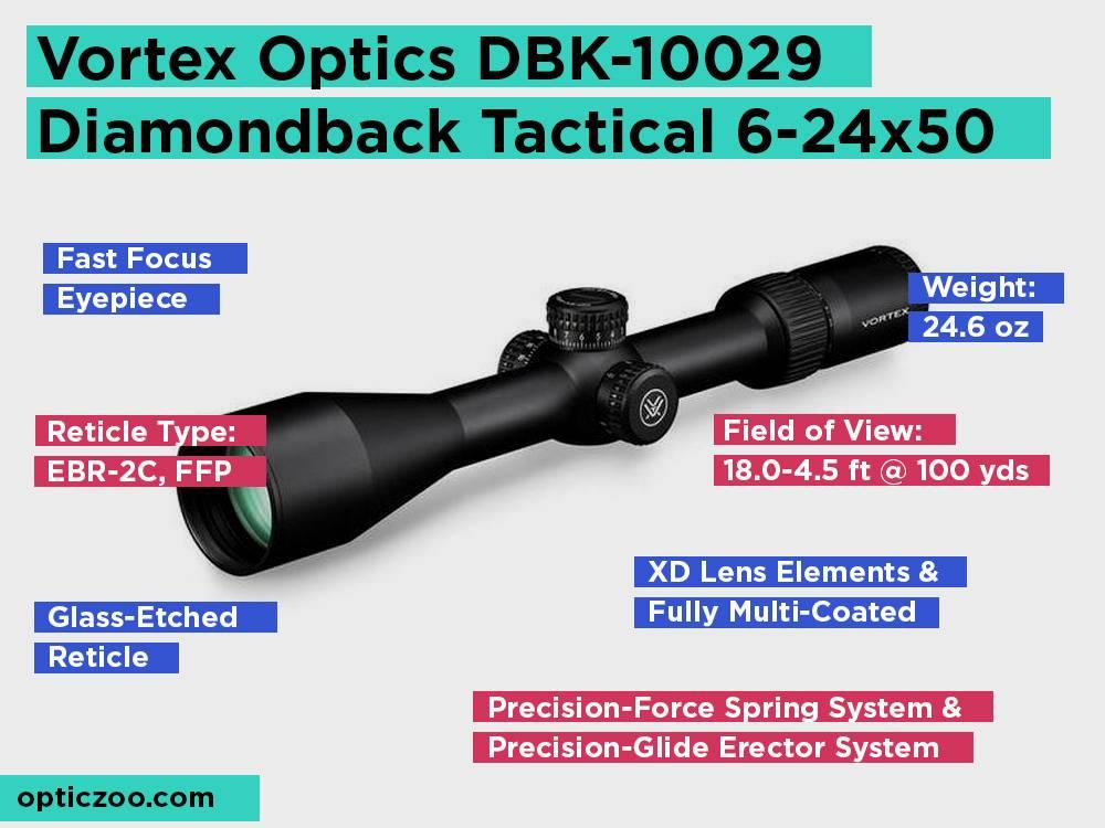 Vortex Optics DBK-10029 Diamondback Tactical 6-24x50 Review, Pros and Cons