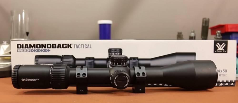 Vortex Optics DBK-10029 Diamondback Tactical 6-24x50 riflescope has 30mm diameter maintube