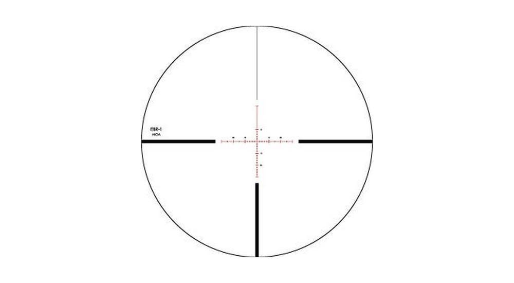 Vortex Optics PST-624F1-A Viper 6-24x50 has a EBR-1 MOA Reticle, FFP